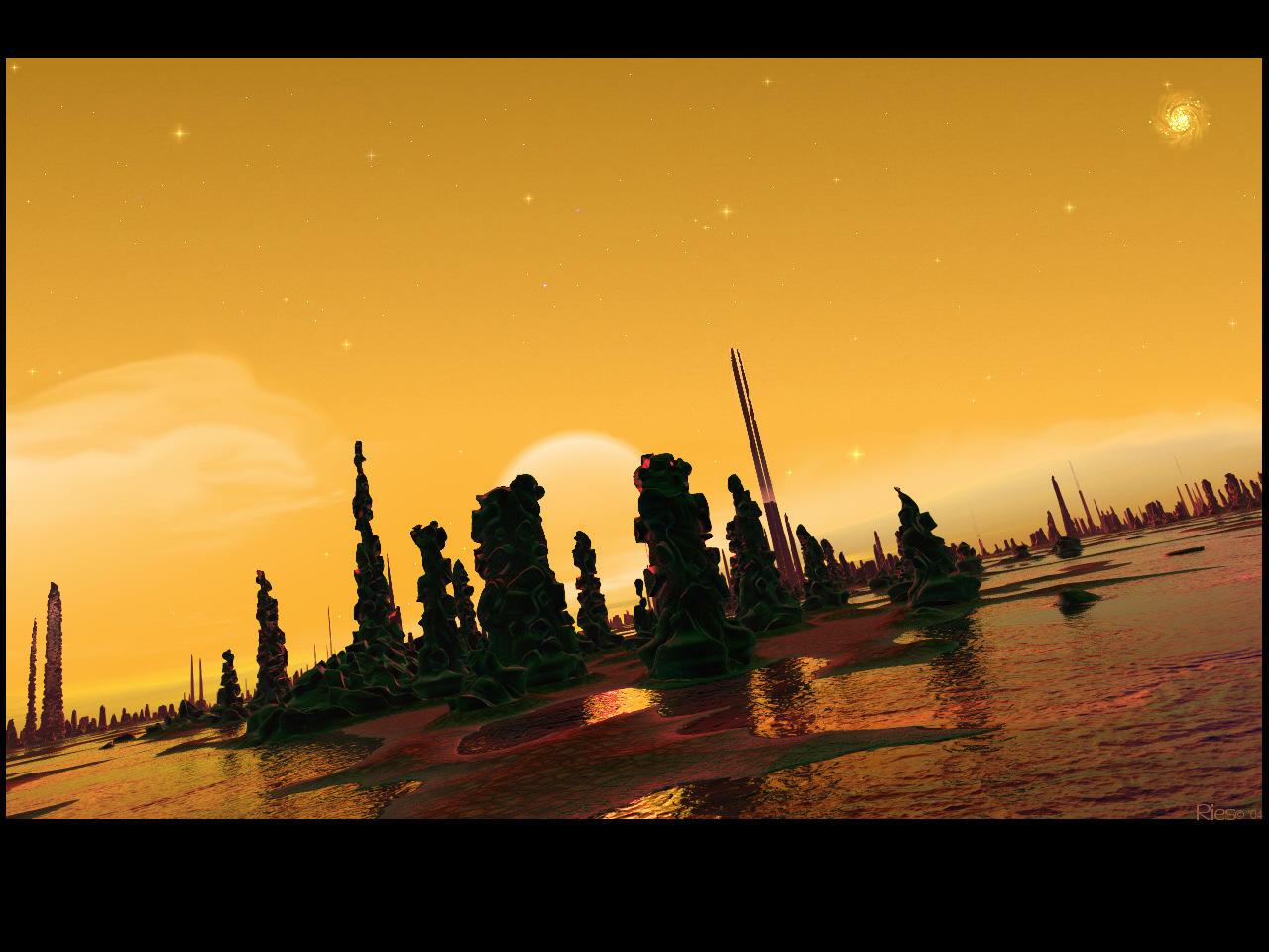 Alien Stonehenge by Casperium