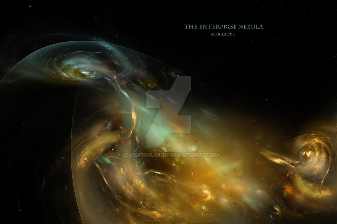 The Enterprise Nebula by Casperium