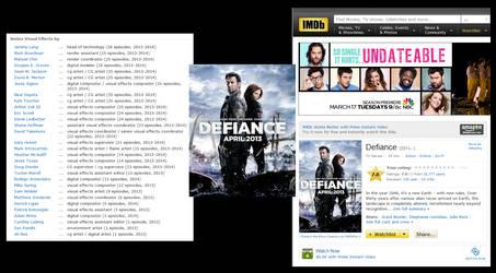 Defiance IMDB by Casperium