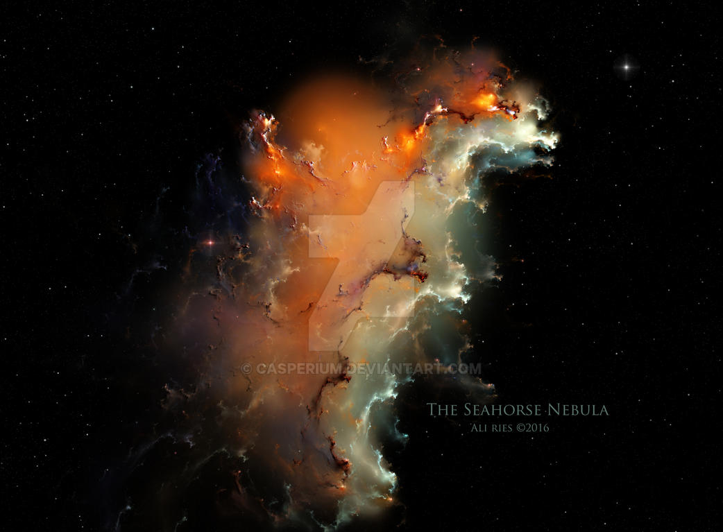 The Seahorse Nebula by Ali Ries 2016 by Casperium