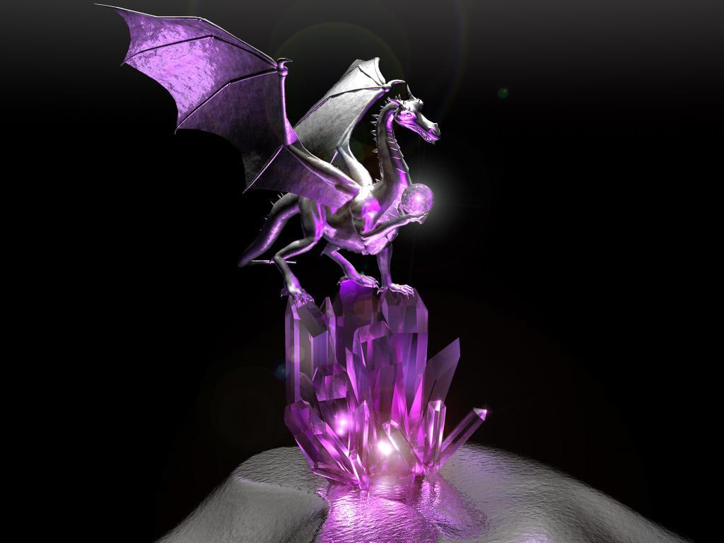 amethyst dragon by casperium on deviantart