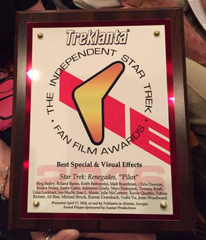 Star Trek Fan Film Awards For VFX for Renegades 20
