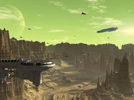 Pitkon City, Planet Axis by Casperium
