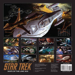 Star Trek Ships of the Line Calendar 2020 by Casperium