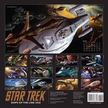 Star Trek Ships of the Line Calendar 2020