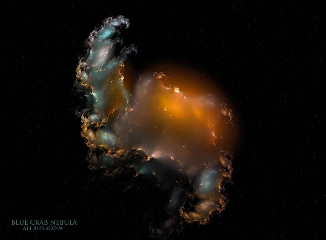 Blue Crab Nebula by Ali Ries 2019 by Casperium