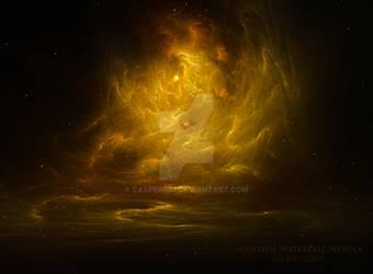 Golden Waterfall Nebula by Ali Ries 2019