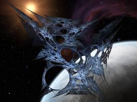 Alien Visitor by Casperium