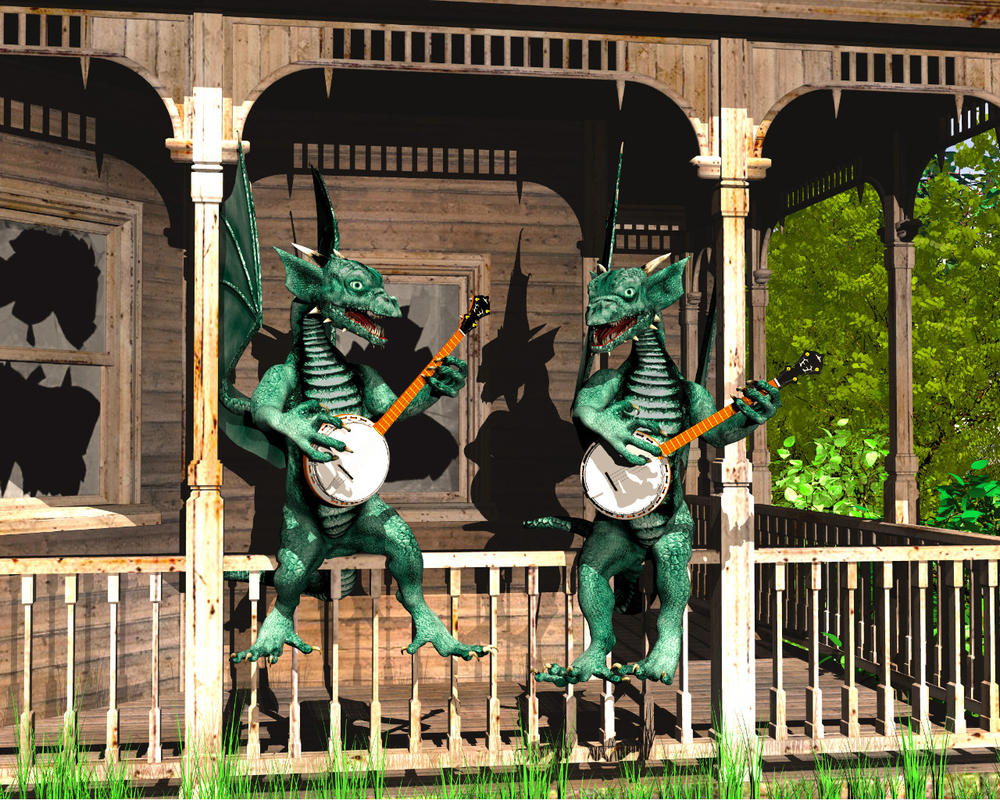 Dueling Dragons by Casperium