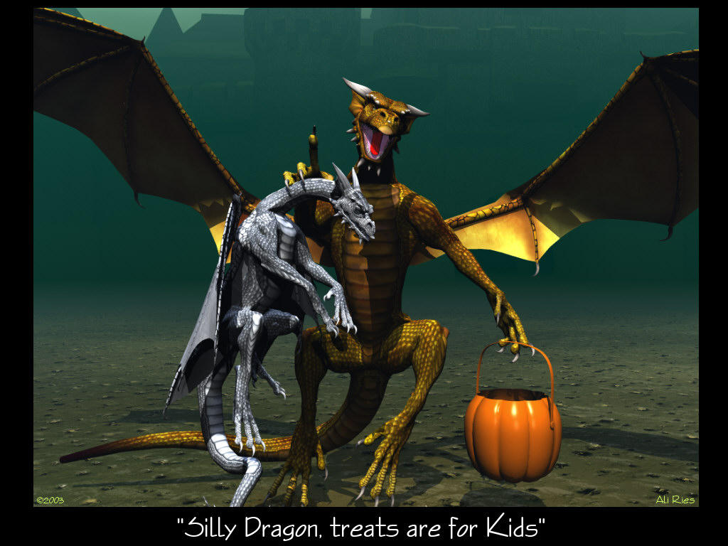Trick or Treat Dragon by Casperium