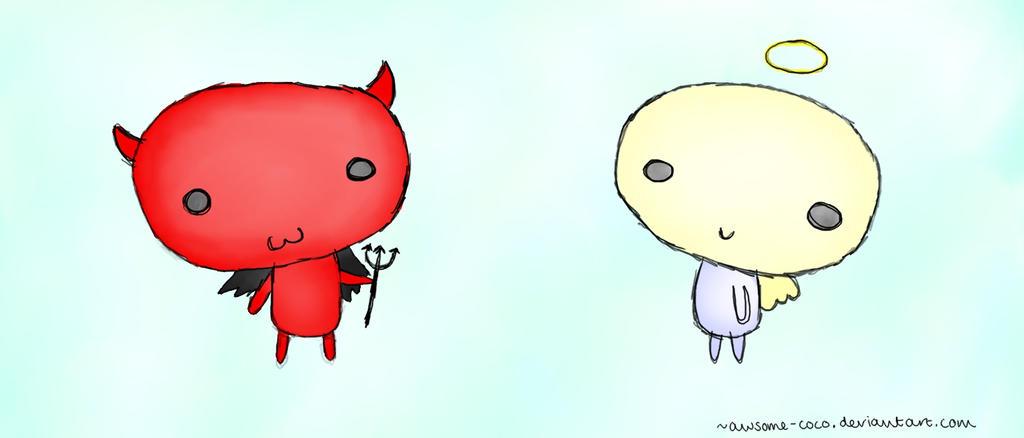 Angel vs Devil Cartoon