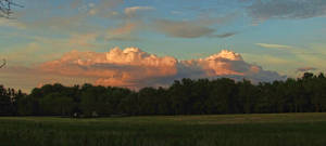 Sunset Clouds In East
