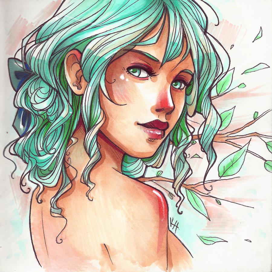 Maiden of Spring by Elentori