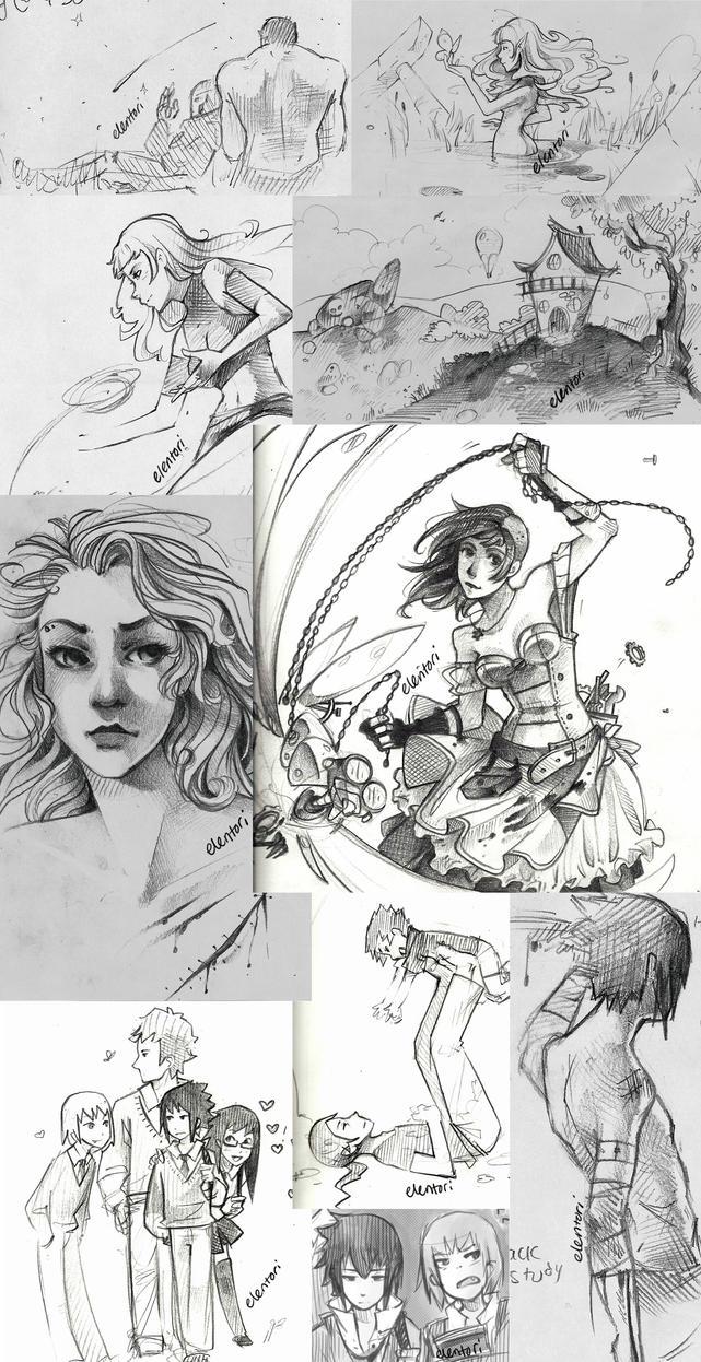 Sketch Dump 1 by Elentori