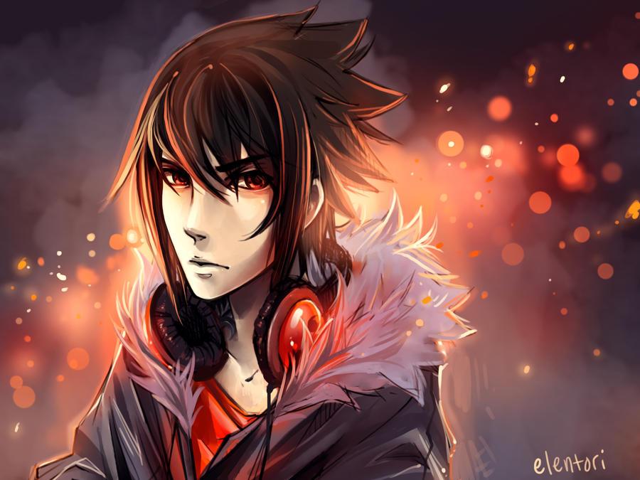Modern Sasuke by Elentori