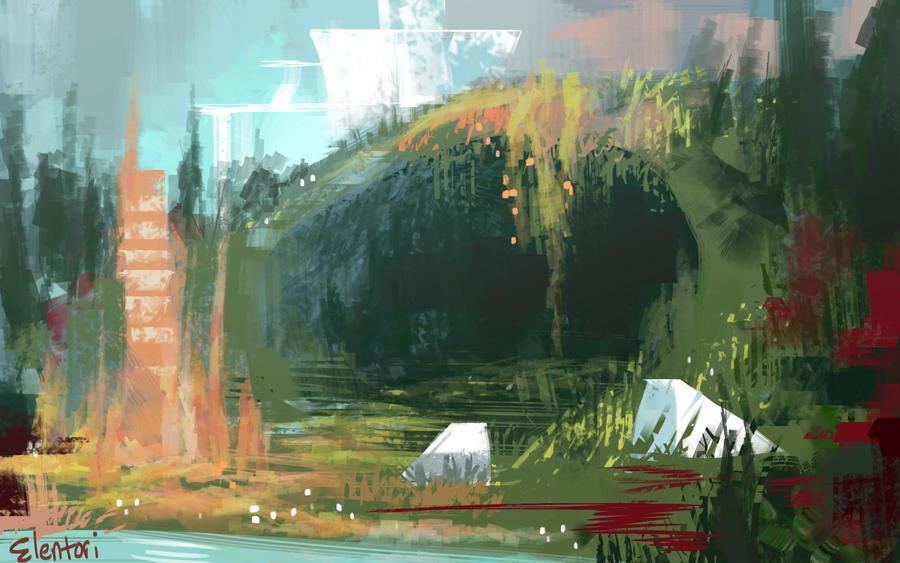 Forest Cave By Elentori On DeviantArt