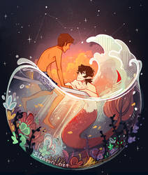 Flowers And Stars by Elentori