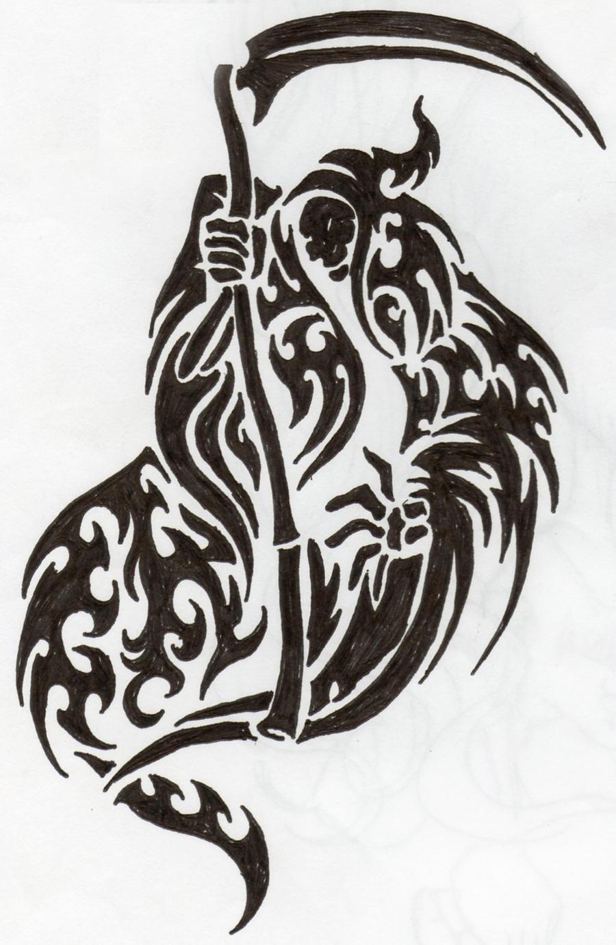 Tribal Death Tattoo: Death Tribal By Pibraclab On DeviantART