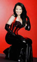 Lucy Liu corset