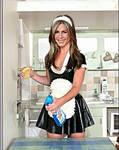 Jennifer Anniston latex maid