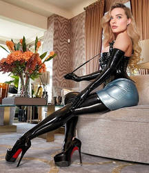 Margot Robbie Latex Goddess by pibraclab