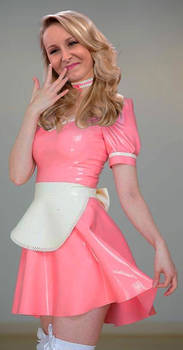 Marion Marechal pink latex maid