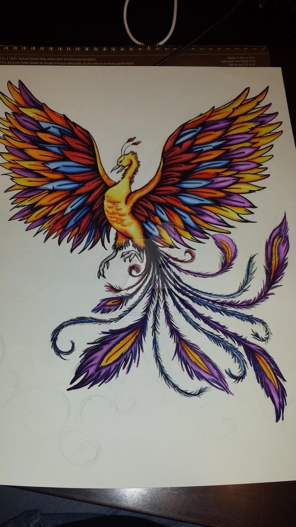 Rainbow Phoenix by Purpleninja79