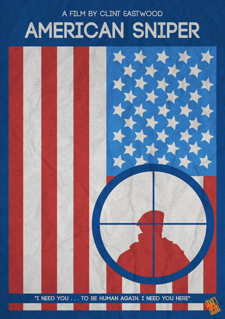 American Sniper Minimalist Movie Poster 2 thumb by motionage on