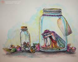 Trapped Fantasy: Sad Fairy by Idunaya