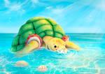 Otto at the beach