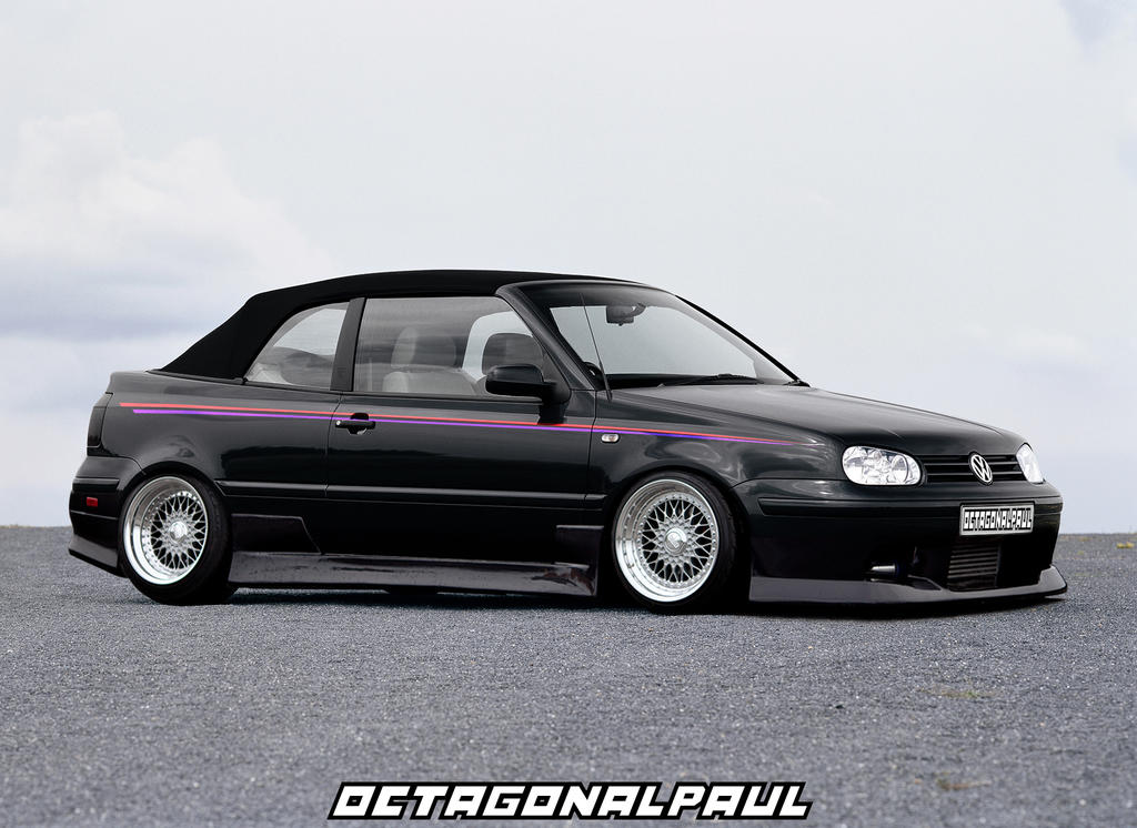 vw golf mk3 cabriolet by octagonalpaul on deviantart. Black Bedroom Furniture Sets. Home Design Ideas