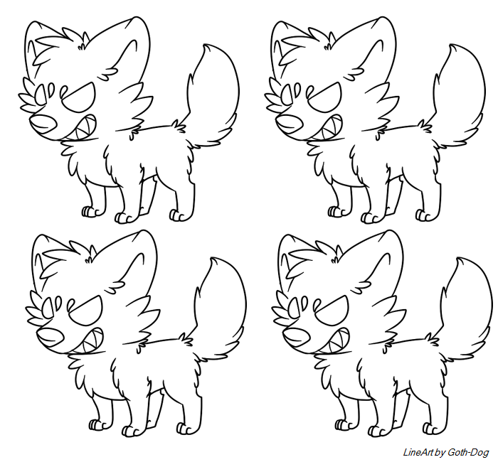 Adoptable Lineart by RegallyFlawed