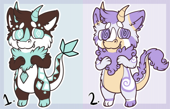 Fluffy dragon adopts by DragonDonger