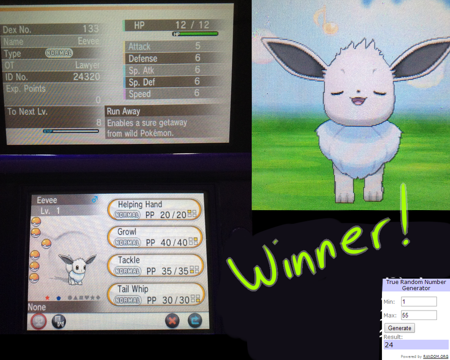 Shiny Eevee giveaway! by DragonDonger