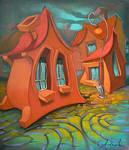 bent hut,, by Gegza