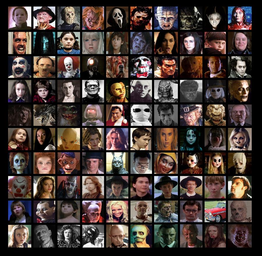 100 Horror Movie Characters By Otaku Mookers On Deviantart