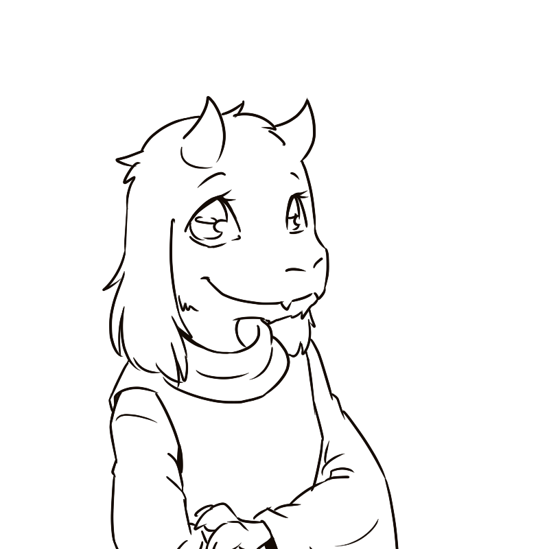 Line Drawing Vs Value Drawing : Toriel line art by hr onlyreadthehrpart on deviantart