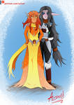 -Cinder and Frostwolf elves - by Majesticus-Fluffus