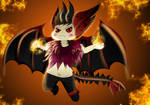 Birthday Giveaway 5 chibi: Aries the Demon Fury by Majesticus-Fluffus