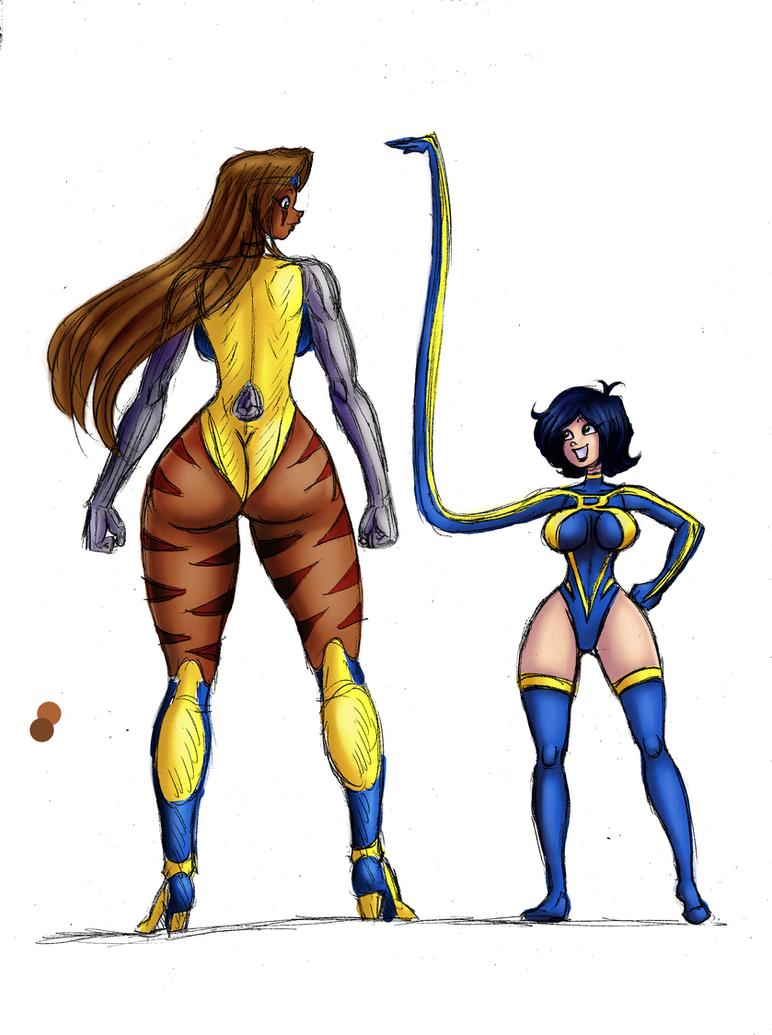 Ana e Rita - color test by tisinrei