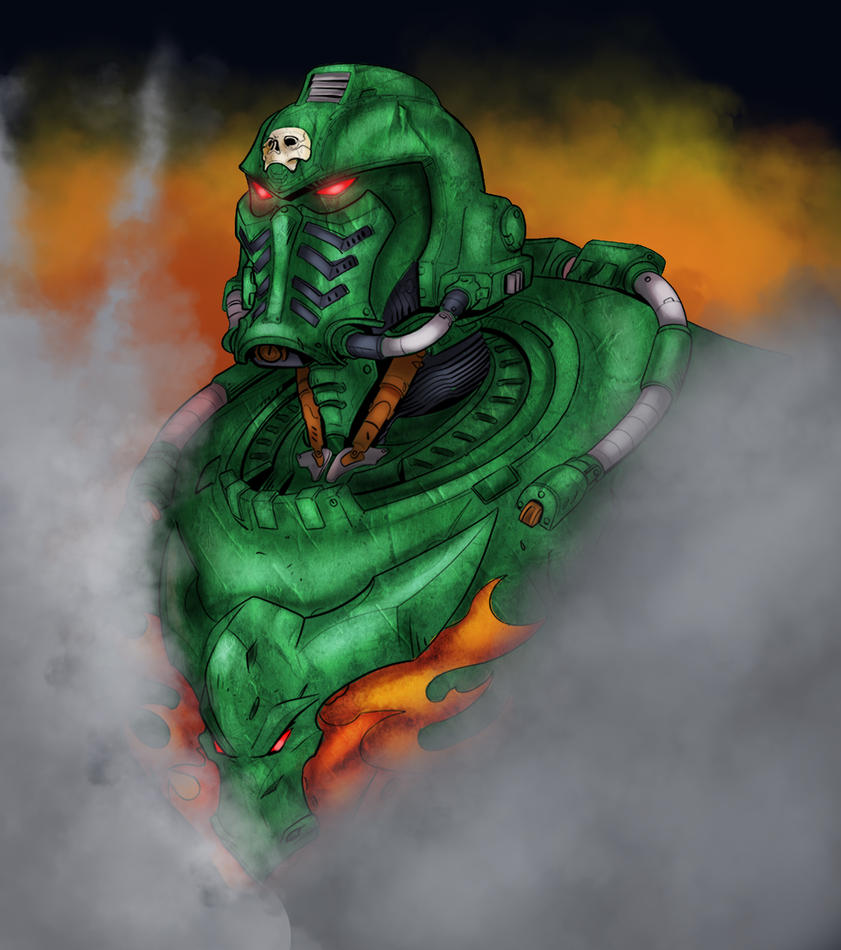 Salamander Space Marine By Rayph by tisinrei