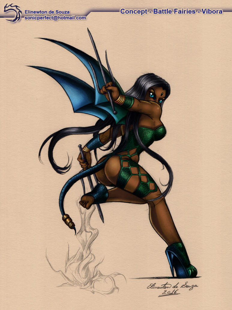 Battle Fairies   Concept -Vibora By Elinewton by tisinrei