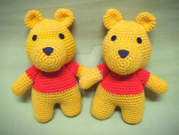 Musings of an Average Mom: Free Winnie the Pooh Crochet Patterns | 455x600