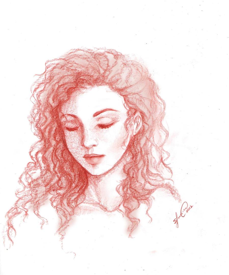 Face sketch by Lukia-LokelaniFace Sketch Girl Tumblr