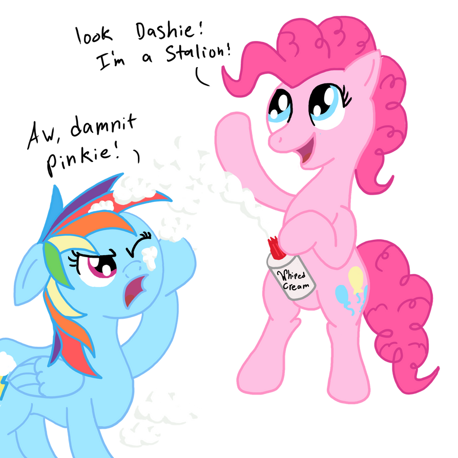 Whiped cream fight! by Wolferahm