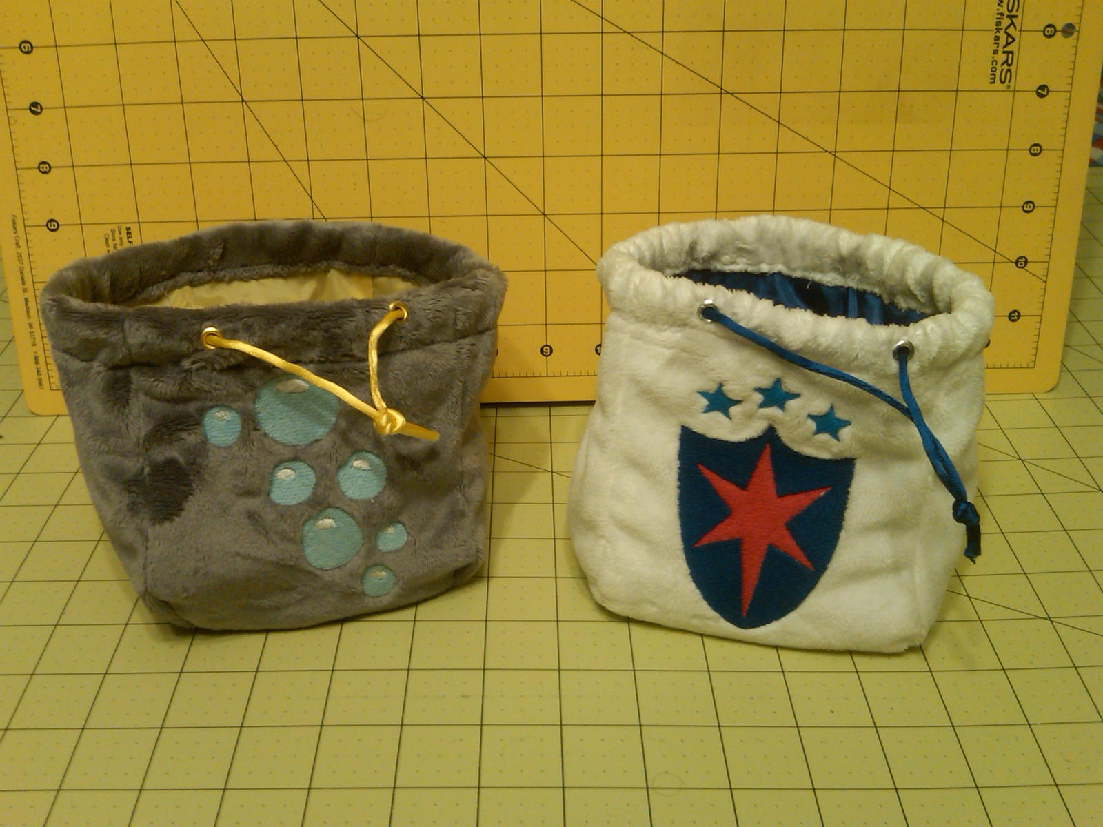 Derpy Hooves and Shining Armor Dice Bags by Wolferahm