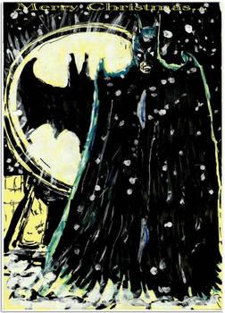 Badly Drawn  Batman  xmas