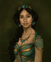 Princess Jasmine (Naomi Scott) by TottieWoodstock
