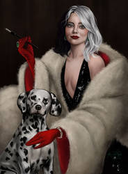 Cruella  De Vil by TottieWoodstock