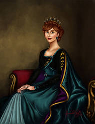 Queen Anna of Arendelle by TottieWoodstock